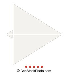 Paper airplane icon .  Flat style