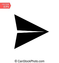 paper airplane icon illustration isolated vector sign symbol. GPS arrow icon