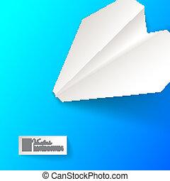 Paper airplane origami.