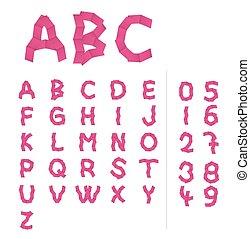 paper alphabet letters