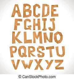 Paper alphabet. Polygonal letters