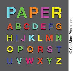 paper alphabet text