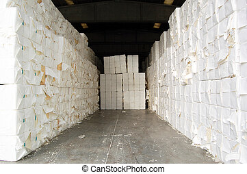 Paper and pulp mill - Detail of cellulose. It mainly obtained from wood pulp and cotton. It is mainly used to produce cardboard and paper.