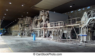 Paper and pulp mill - Factory, Plan - Paper and pulp mill -...