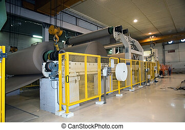 This paper mill is a factory devoted to making paper and cardboard from recycled paper using this Fourdrinier Machine.