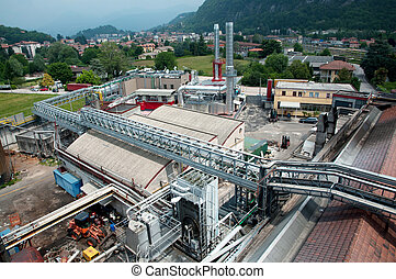 Paper and pulp mill - In this paper mill waste paper is used to produce cardboard.