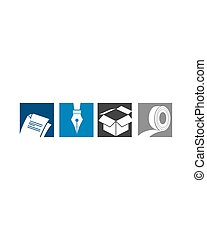 Paper and writing tool Logo