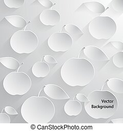 Paper Apples with Drop Shadows.