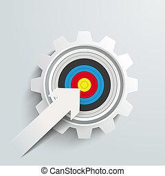 Paper Arrow Colored Target Gear