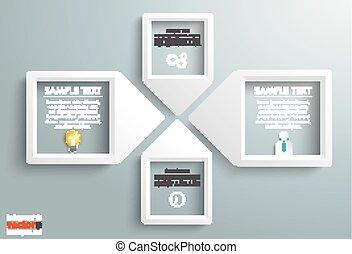 Paper Arrow Frames Solution Businessman Infographic