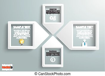 Paper Arrow Frames Solution Businessman Infographic