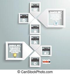 Paper Arrow Frames Solution Infographic Timeline