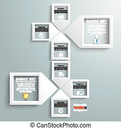 Paper Arrow Frames Solution Infographic Timeline