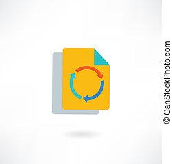paper arrow icon