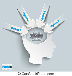 Paper Arrow White Head 4 Options
