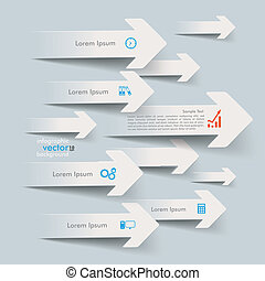 Paper Arrows Direction Right - White paper arrows on the...