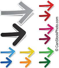Paper arrows.