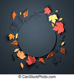 Paper Art - Autumn Background