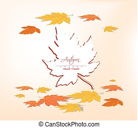 Paper autumn vector leaf
