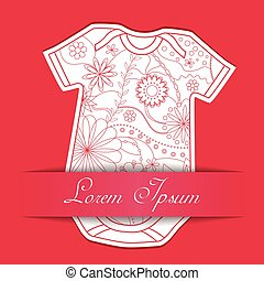 Paper background with baby body dress - Vector paper ...