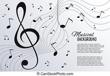 Paper background with music notes.