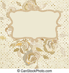 Paper background with roses. EPS 8