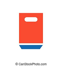 paper bag icon blue and orange