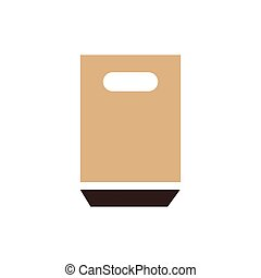 paper bag icon brown color