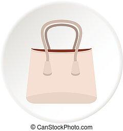 Paper bag icon circle