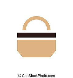 paper bag icon design brown color