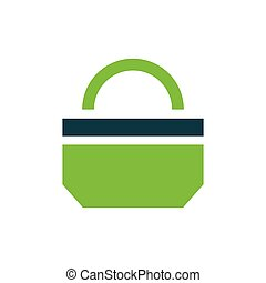 paper bag icon design green