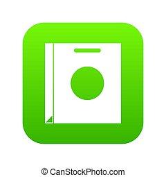 Paper bag icon digital green