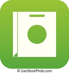 Paper bag icon digital green