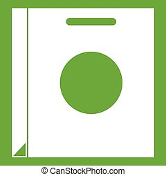 Paper bag icon green