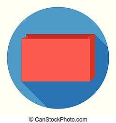 Paper bag icon on blue background for any occasion
