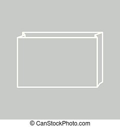 Paper bag icon on gray background for any occasion