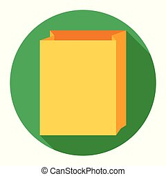 Paper bag icon on green background for any occasion