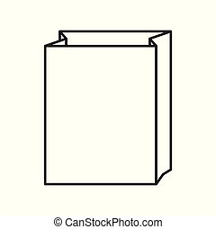 Paper bag icon on white background, for any occasion