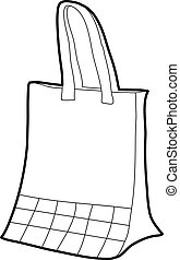 Paper bag icon outline