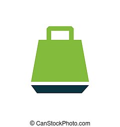 paper bag icon vector green