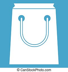 Paper bag icon white