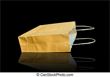 Paper bag isolated on background