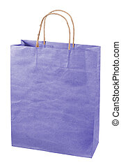 Paper bag isolated on white background.