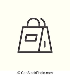Paper bag line icon