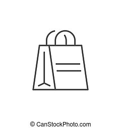 Paper bag line outline icon
