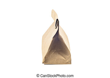 Paper bag on white background, isolated