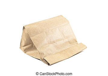 Paper bag on white background,isolated