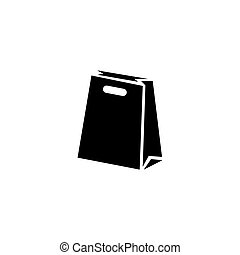 Paper Bag Package Flat Vector Icon