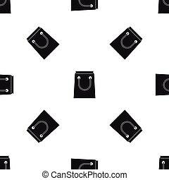 Paper bag pattern seamless black