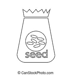 Paper Bag Seed icon illustration design